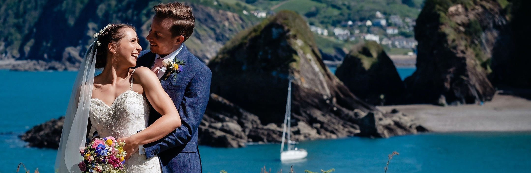 Wedding at watermouth cove