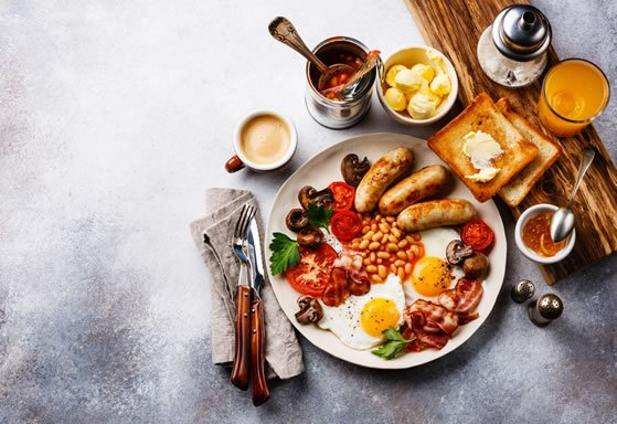 full english breakfast at watermouth cove