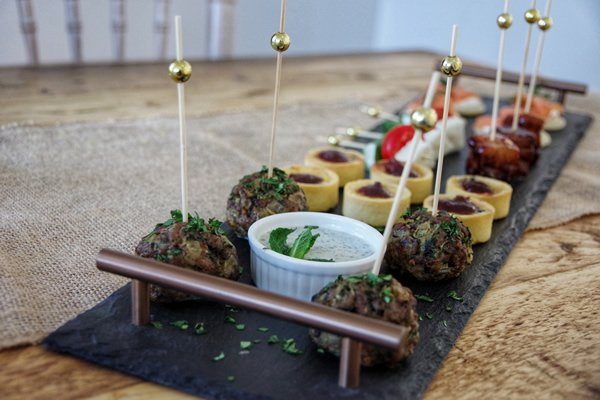 canapes at watermouth cove