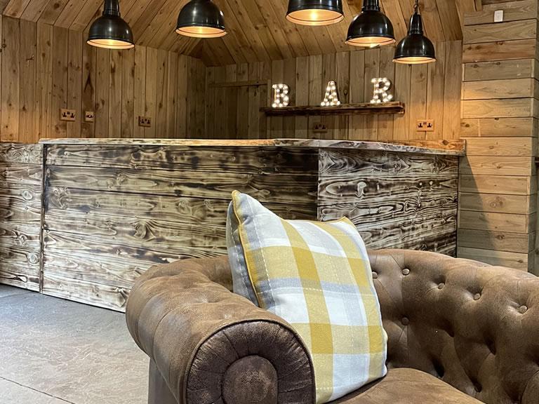 the snug bar at watermouth cove