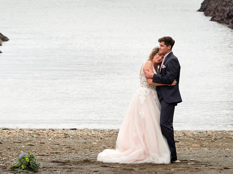 Watermouth Cove Weddings on the beach
