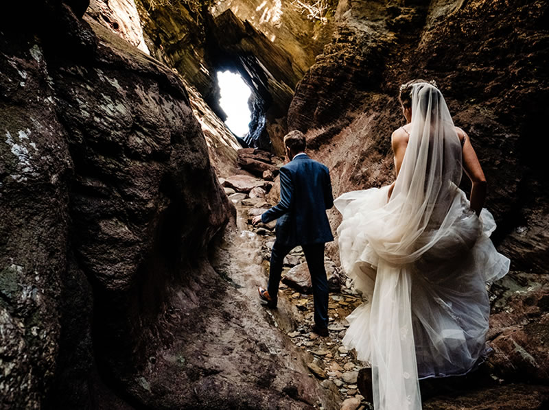 wedding in the caves