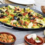 paella at watermouth cove